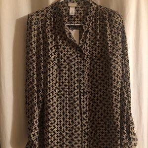 H & M Long Sleeve Blouse US 8 NWT